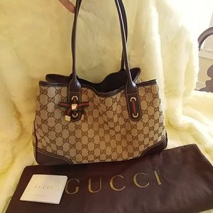 Gucci Brown Tweed Medium Shoulder Bag